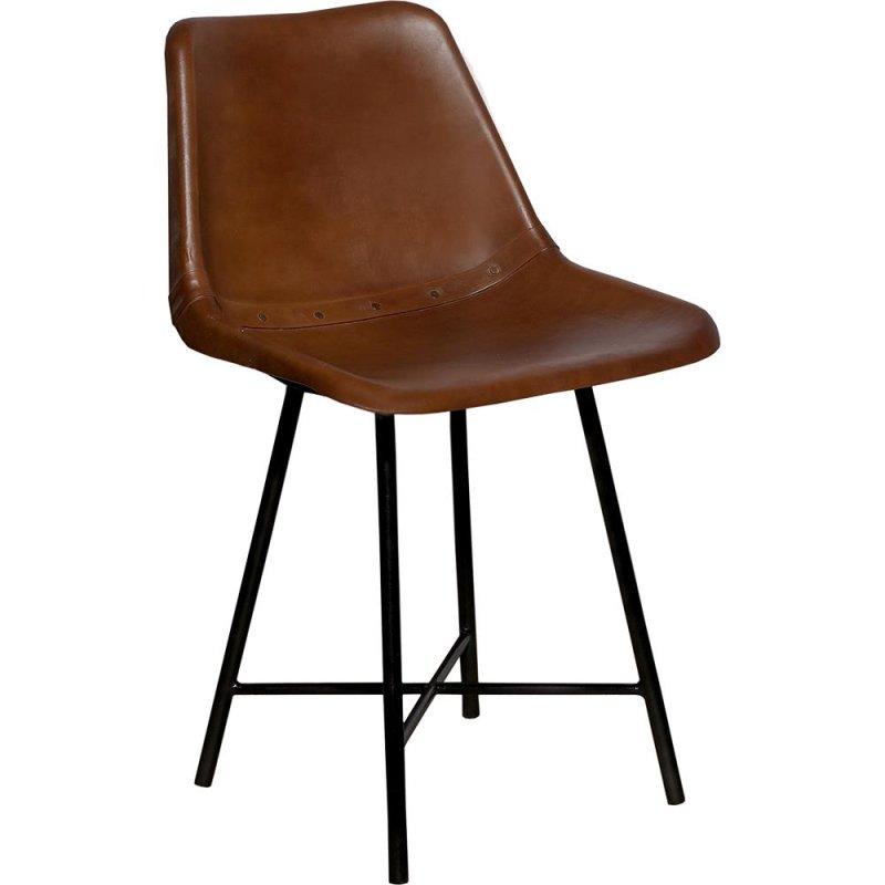 Stuhl Leder antikbraun