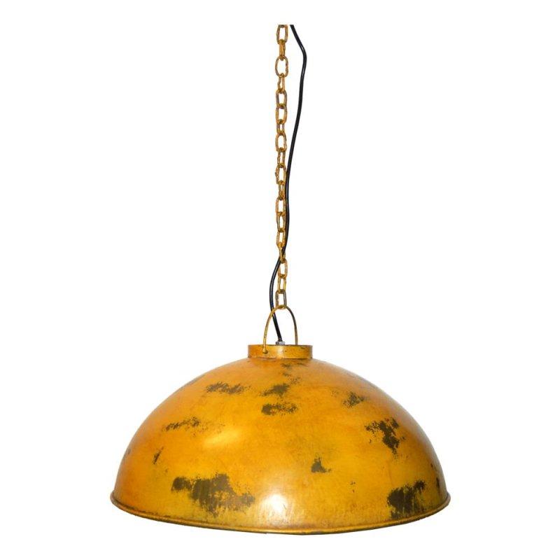 Deckenlampe im Fabrikstil gelb