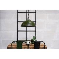 Deckenlampe im Fabrikstil grün