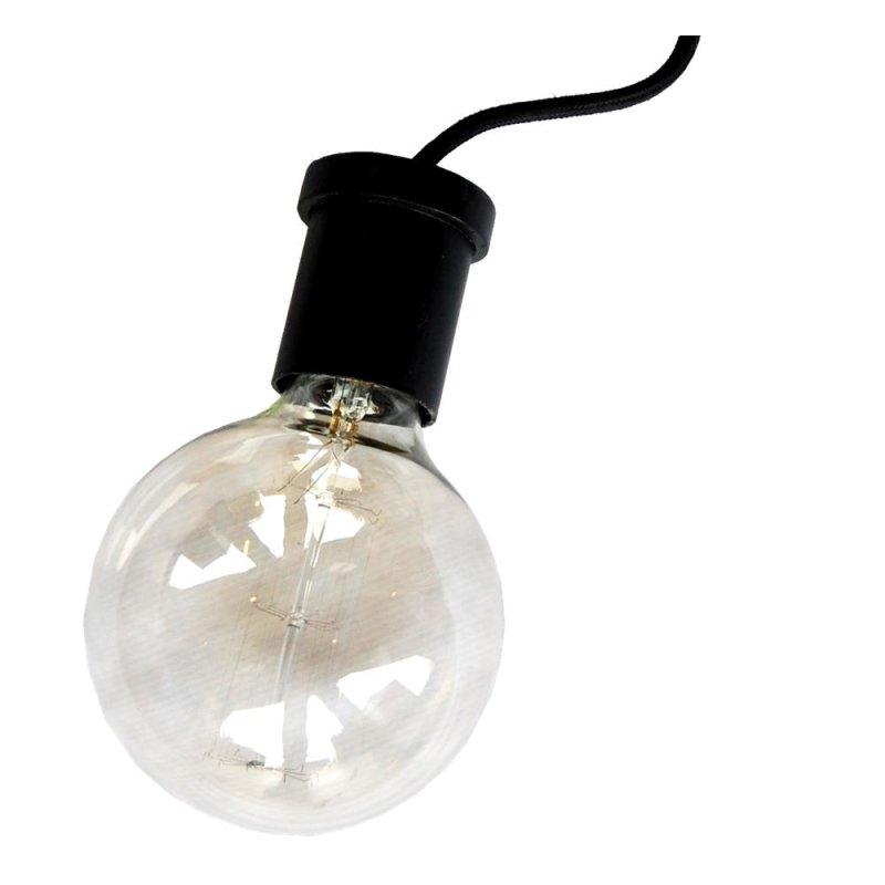Lampenfassung im Industriestil glänzend aus Eisen schwarz