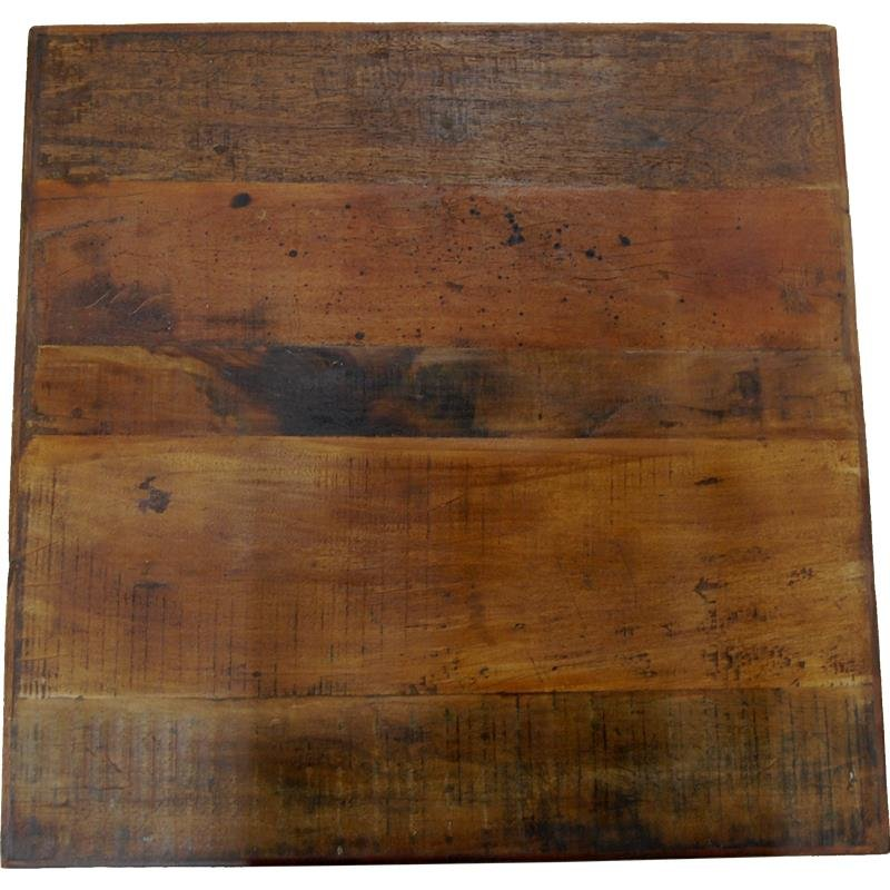 Cafétischplatte aus Recyclingholz 70x70