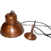 Deckenlampe in Kupfer