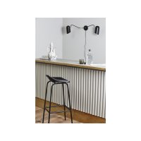 ERIS wall lamp, 2 arms, black