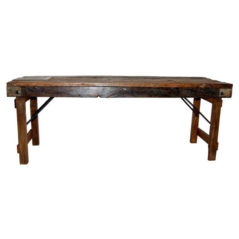Antike Holzbank - klappbar