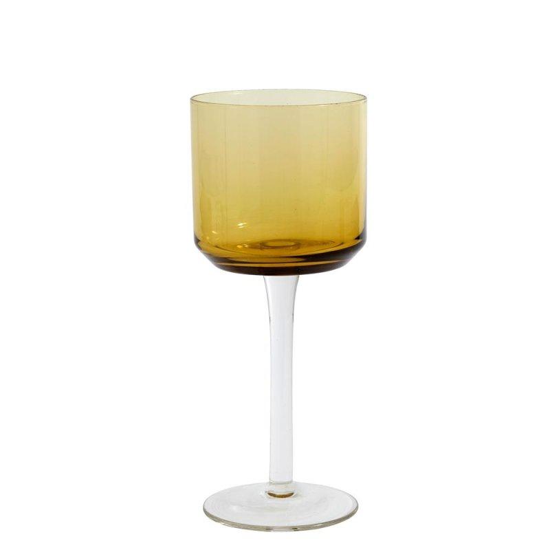 Weißweinglas RETRO von Nordal, Bernstein
