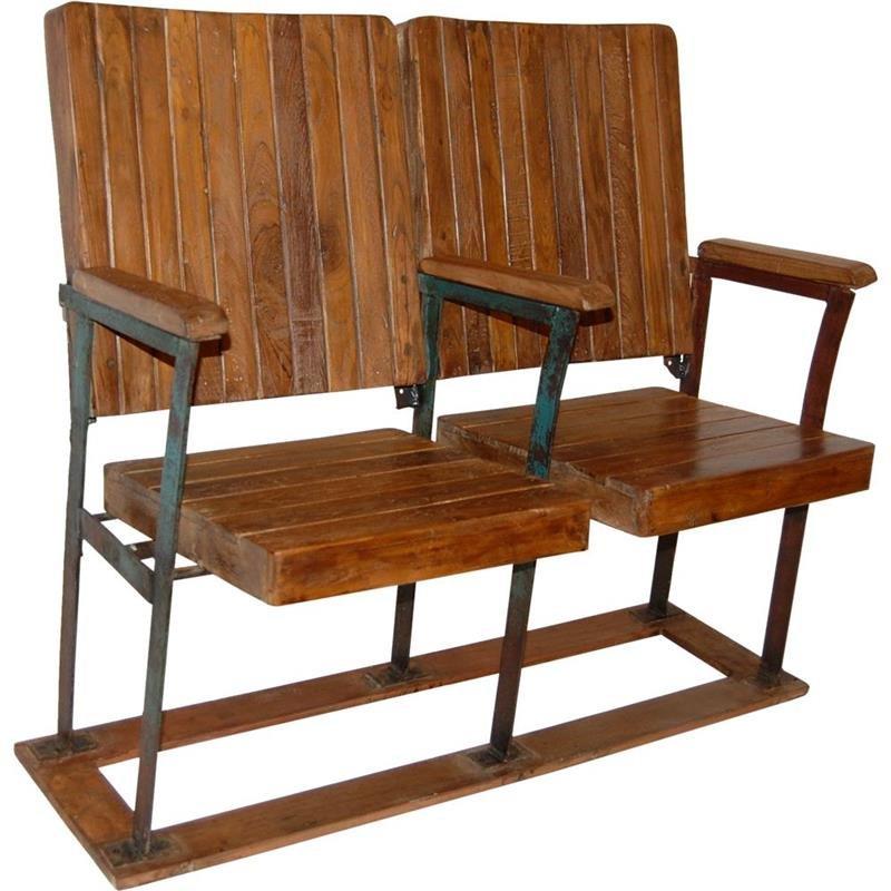 Originale Kinobank aus Holz