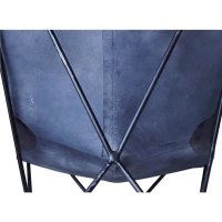 Butterfly Sessel Leder schwarz