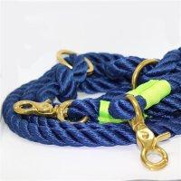 Hundeleine Tauwerk Marine Blau