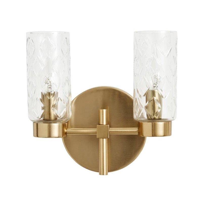 Nordal Wandlampe mit 2 Zylinder, gold