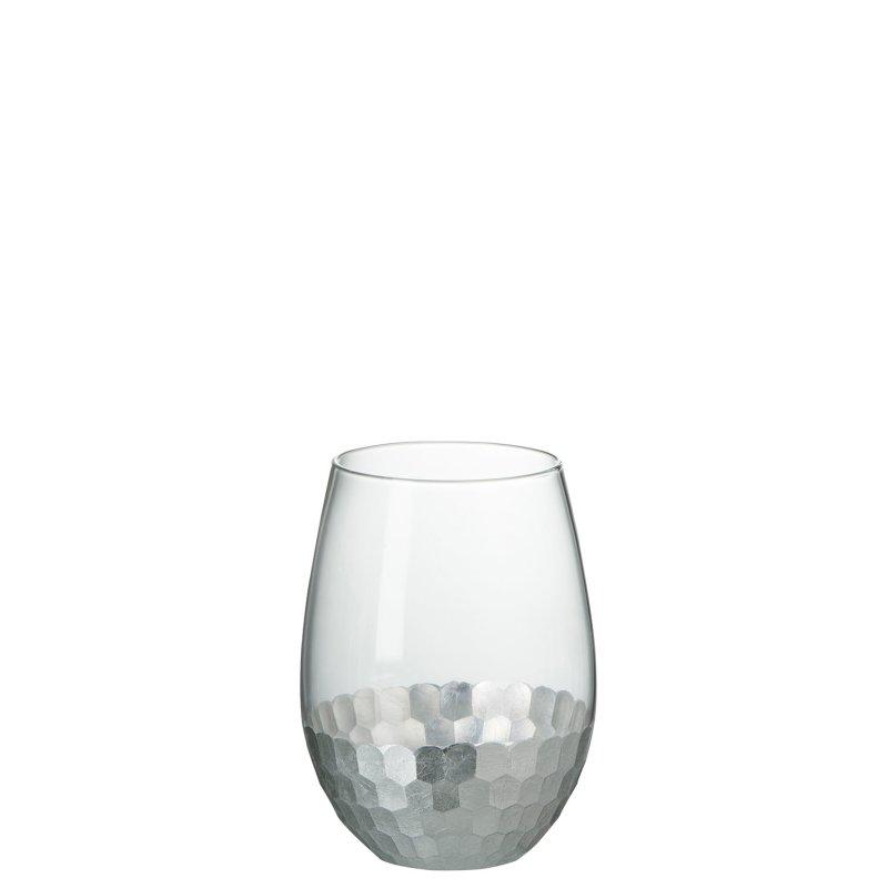 Wasserglas mit Silber