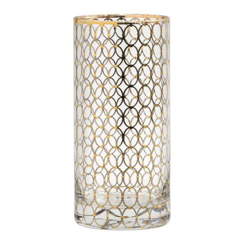 Longdrinkglas mit Gold, Nordal