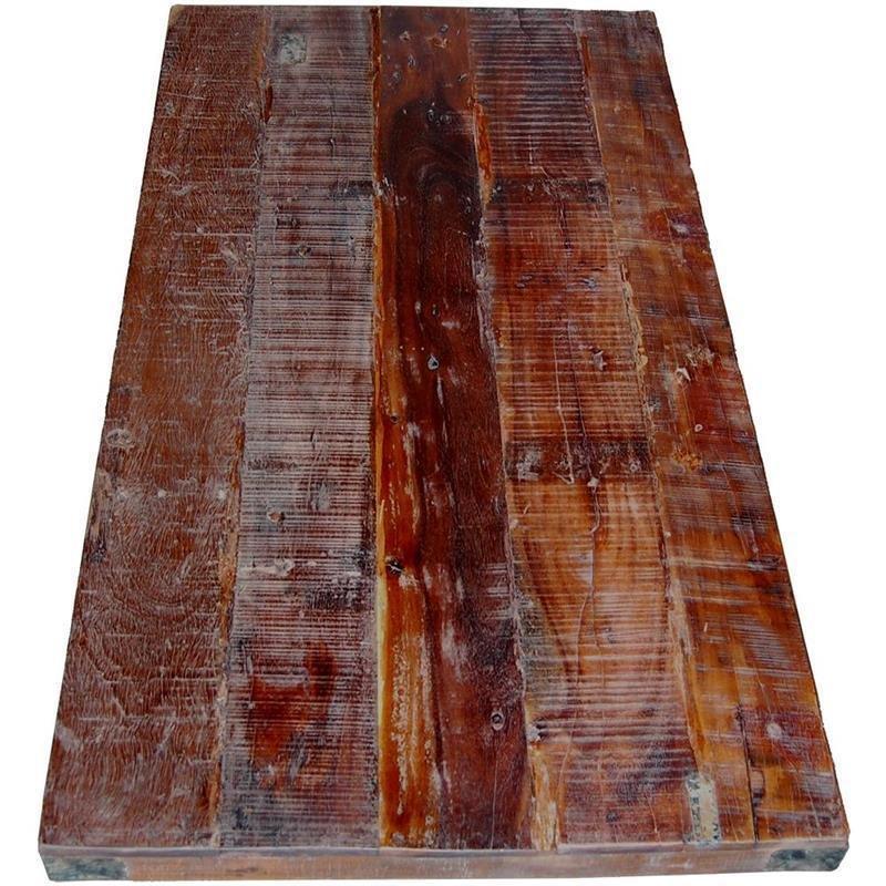 Tischplatte aus recyceltem Teakholz H=5x180x80cm