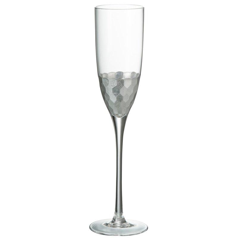 CHAMPAGNE GLASS TR/SILVER