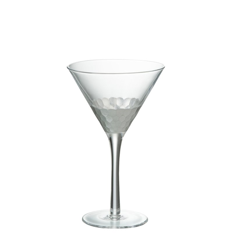 COCKTAIL GLASS TR/SILVER
