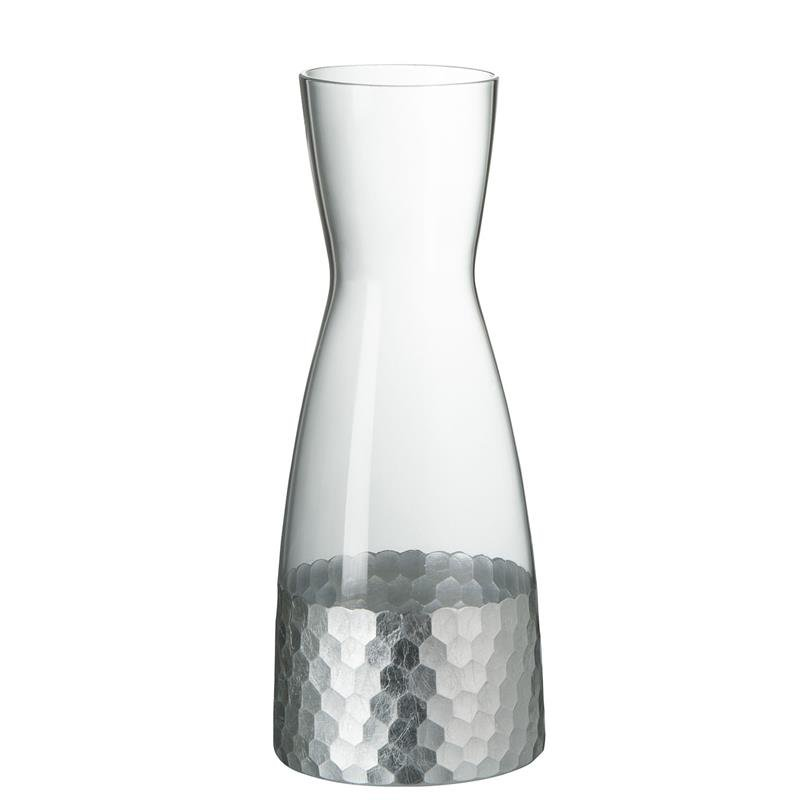 DECANTER WATER GL TR/SILVER