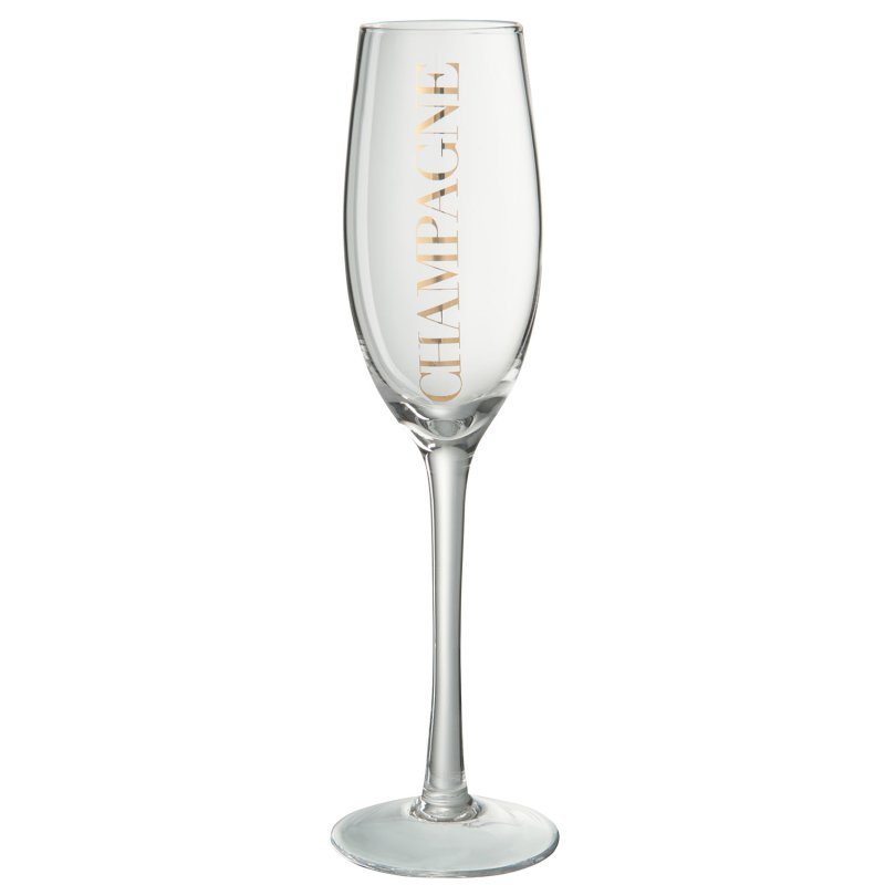 CHAMPAGNE GLASS TR/GOLD
