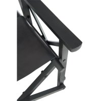 DIRECTOR CHAIR FOLD WD/LEAT BL