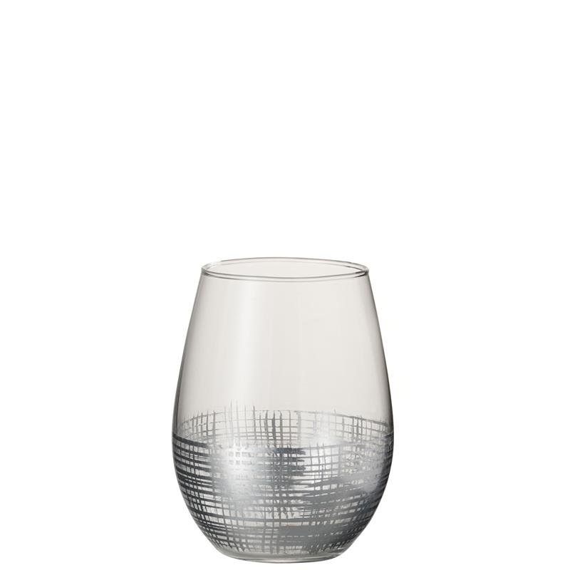 DRINK GLASS GRID BALL GL SI/TR