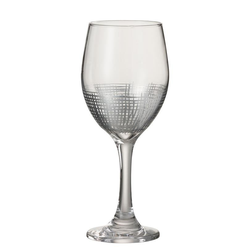 DRINK GLASS +FT GRID GL SIL/TR