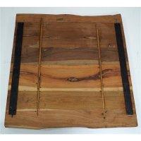 Rustikale Tischplatte 70x70cm