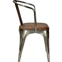 Stuhl mit Leder und Armlehne