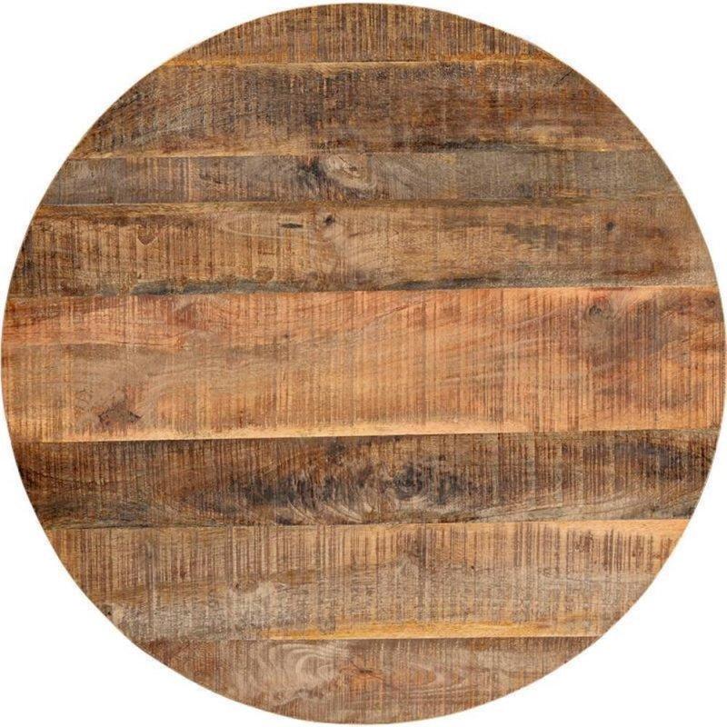 Runde Tischplatte Mangoholz D=70cm