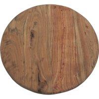 Runde Tischplatte aus Recyclingholz D=70cm