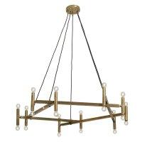Chandelier, brass f/20 lights
