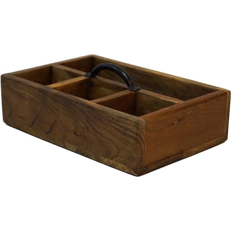 Holzkasten mit Aufteilungen