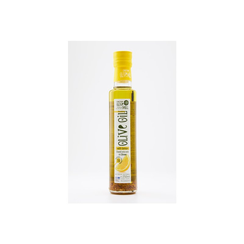 Olivenöl mit Zitrone 0,25l Fl. Cretan Olive Mill