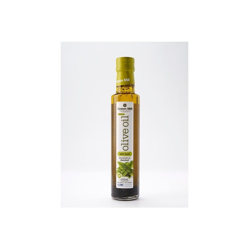 Olivenöl mit Basilikum 0,25l Fl. Cretan Olive Mill