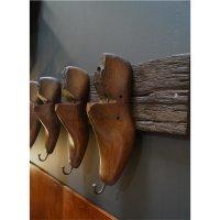 Rustikale Garderobe mit 5 Schuhleisten