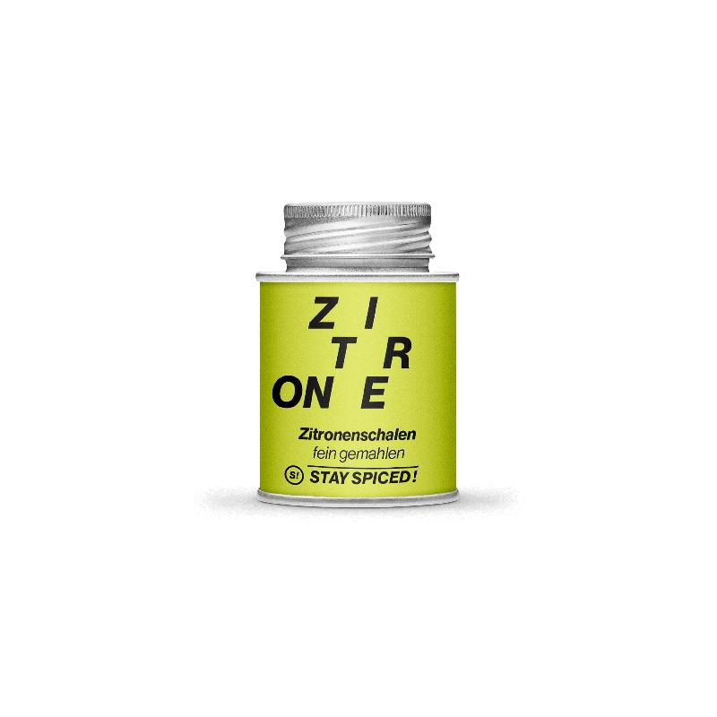 Zitronenschalen fein-gemahlen, 170ml Schraubdose