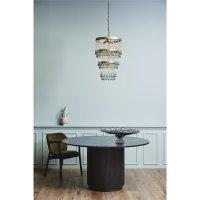 CHARIS chandelier, glass drops, golden